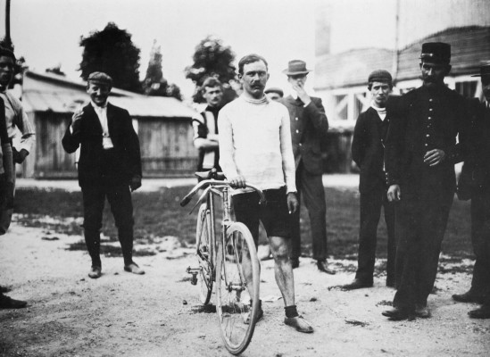 Louis Trousselier, winner of the 1905 Tour de France, was one of the first riders sponsored by Peugeot.