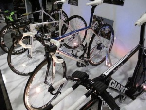 Brice Feillu's LaPierre was at the Shimano booth.