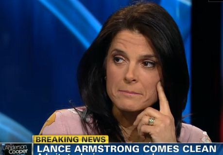 My hero, Betsy Andreu, channels McKayla Maroney.