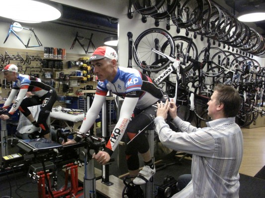 Photo: One Italian frame builder took three measurements of me.