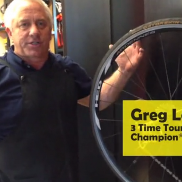Greg LeMond Fixes a Flat … Better
