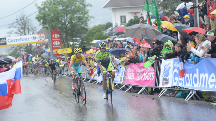 Photo: You know, that Vincenzo Nibali kid might have a future in cycling if he keeps this up...