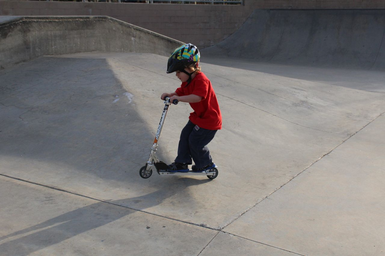 Learning To Ride The Razor Scooter Rkp
