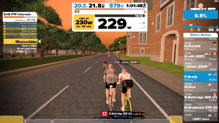 A Zwift Use of Time