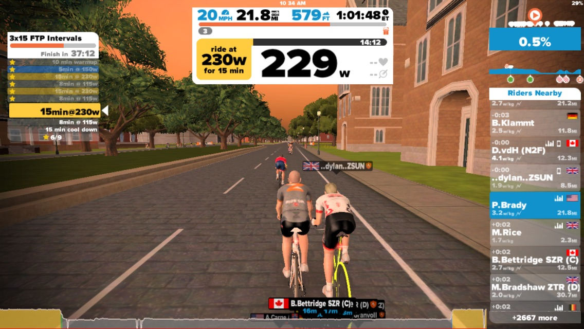A Zwift Use of Time | RKP
