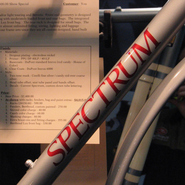 Spectrum Cycles Eyes the Finish Line